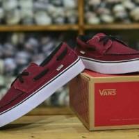 Sepatu casual sneakers santai vans zapato ICC merah maroon
