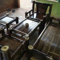 Kursi Bambu Hitam Minimalis Full Set