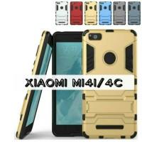 Bumper Rugged Armor Kick Stand Hard Case Cover Casing Xiaomi Mi4i Mi4c