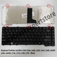Keyboard notebook / laptop Toshiba C600,C640,L600,L630,L635,L640,L645