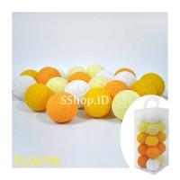 Cotton Ball Light Yellow Tone Lampu Hias Dekorasi Tumblr Lamp
