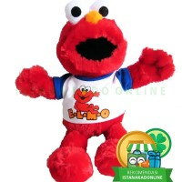 Boneka Elmo Sesame Street T-shirt Putih 19