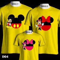 Mickey & Minnie Mouse Big Head   D04   Kaos Couple   Family T-Shirt