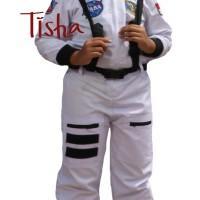 Termurah Kostum Baju Astronot uk 8 (8-9 Tahun) warna Putih Astronout