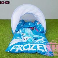 Kasur Bayi Lipat Set Kelambu Motif Frozen Kblk001