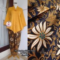 Setelan Kebaya Floy Kutu baru Bandage Golden Yellow