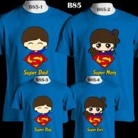 Keluarga Superman Superhero Kartun   B85 Kaos Couple   Family T-Shirt