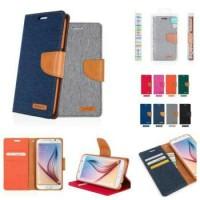 Asus zenfone 3 laser ZC551KL flipcase wallet canvas flipcover case