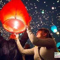 Balon udara lampu - Lentera / Lampion Terbang - flying sky lanterns