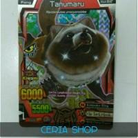 Kartu Animal Kaiser S5 Tanumaru + BONUS 1pcs Super Rare Card Lagi