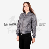 Jaket Bomber Women Grey