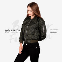 Jaket Bomber Women Green Moose