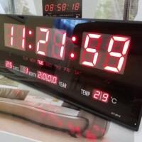 Jam Dinding Digital LED Meja LED Clock 3615 Merah