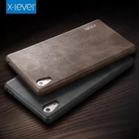 Sony Z5 Premium VINTAGE Leather Hard Back Slim Cover Casing Case Kulit