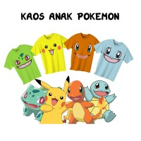 Kaos Anak Lucu (Kids T-Shirt) Pokemon