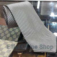 Dasi Panjang Pria Motif Salur Light Silver - Lebar 3 inch (7,5 - 8cm)