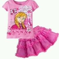 Pakaian/Baju Anak/Stelan Tutu Frozen Elsa & Anna