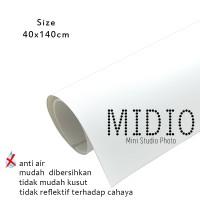 Midio Mini Photo Studio Background Putih 40x140cm