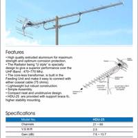 Antena PF Digital HDU-25 - Very High Gain serta Cocok untuk TV Analog