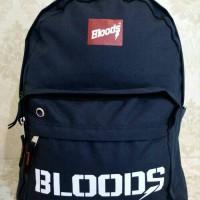 Tas ransel sekolah sport import BLOODS Original Free raincover