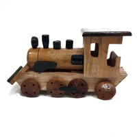 Original Indonesian Handmade Woodcraft - Miniatur Kayu Kereta Api