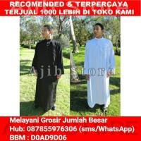 IMPORT Jubah Alharamain (AL Haramain) Baju Gamis Arab/Thobe Pria Putih