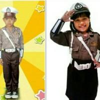 Baju polisi anak setelan komplit / seragam polisi anak / baju karnaval