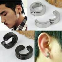 Anting magnet fashion modern tanpa tindik magnet tindik pria - Perak