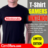 Baju Tshirt Kaos Nintendo Logo Gamers - NIN-0002