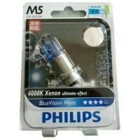 Lampu Motor Philips Blue Vision M5 K3 35/35Watt Lebih Terang & Fokus