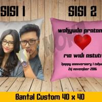 Bantal Foto (uk.40x40 cm)/Bantal Custom/Bantal Tidur/Souvenir/Kado