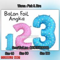 Balon Foil Angka Jumbo 80 Cm