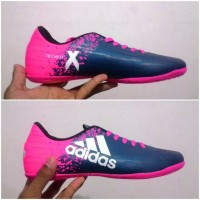 sepatu futsal adidas x blue pink