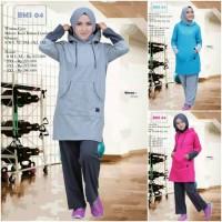 Setelan Training Believe BMS 04 - Baju Olahraga Muslimah Remaja Dewasa