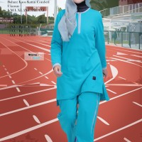 Setelan Training Believe BMS 02 Jumbo - Jual Baju Olahraga Muslimah