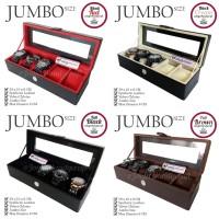 PROMO - JUMBO Size Kotak Jam Tangan Isi 5 / Tempat Jam / Watch Box