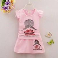 baju setelan anak - anak import/ Setelan Cewek/ Kucing
