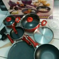 SUPRA 12 pcs Cookware Panci Set (GOJEK ONLY)
