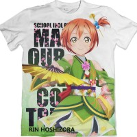 Rin Hoshizora Love Live! Anime Tshirt-Kaos-Baju