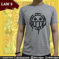 Kaos Anime One Piece Law 3 Trafalgar Law Lengan Pendek