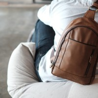 Premium Sling Bag Tan | Vape Bag |Tas Vapor | Tas Vape | Bova Bag