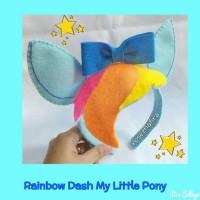 Bando lucu/kawaii Headband Rainbow Dash My Little Pony