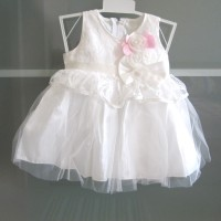 Dress Bayi Baju Perempuan gaun Pesta 1 tahun dres white anak balita