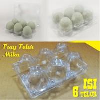 Tray Telur / Egg Tray / Mika Telur Isi 6 Butir Dengan Pengunci