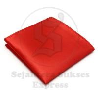 pocket square / sapu tangan saku merah silk satin , ready stock