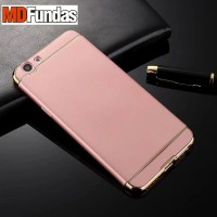 Casing HP 3 in 1 Protection Case Rose Gold Oppo F1s