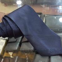 Dasi Panjang Pria Motif Salur Navy Blue - Lebar 3 inch (7,5 - 8cm)