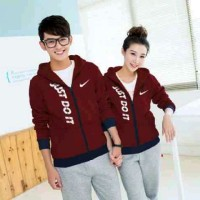 Teraris Couple Jaket NK Marun [Pakaian Couple 0119a]6 Terkini