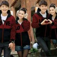 Teraris cp love baju sepasang pakaian cwe cwo jaket couple Terkini