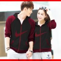 Teraris Cp Jkt Nike Marun Cl Pakaian Couple Jaket Hitam Moroon - Sale